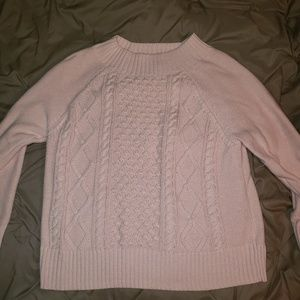 Chaps Pink pullover crewneck Sweater